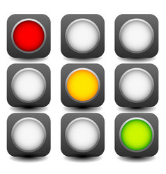 Control lights semaphores or traffic lamps vector