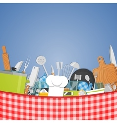 Cooking kitchen background vector