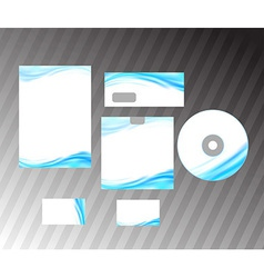 Corporate style idea - blue abstract wave vector