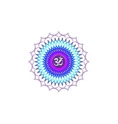 crown chakra sahasrara 7th chakra mandala vector image