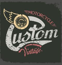 Custom vintage vector