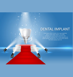 Dental implant poster or banner template vector
