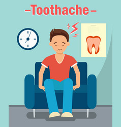 Dental office toothache web banner concept vector