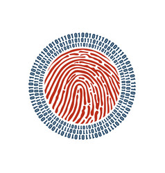 Digital fingerprint and binary one and zero vector