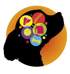Dog Brain vector image
