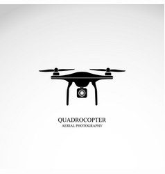 drone quadrocopter icon vector image