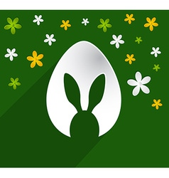 Easter egg bunny ears vector image