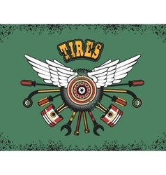 emblem for tire vector image