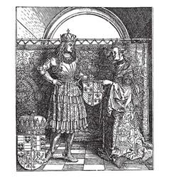 Emperor maximilian and his bride mary of vector
