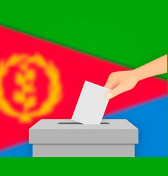 Eritrea election banner background ballot box vector