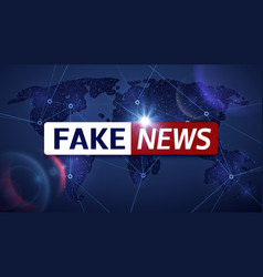 fake news broadcasting television vector image