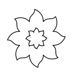 figure flower with pointed petals icon vector image vector image