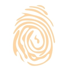 Fingerprint icon flat style vector