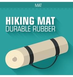 Flat hiking mat concept background design vector