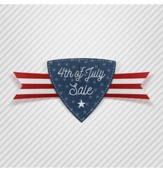 Fourth of July Sale Tag with Ribbon vector image