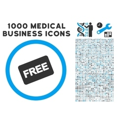 Free Card Icon with 1000 Medical Business Symbols vector