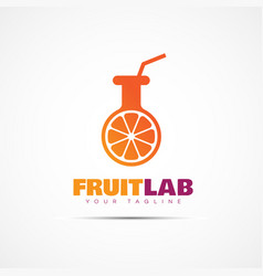 Fruit lab logo vector