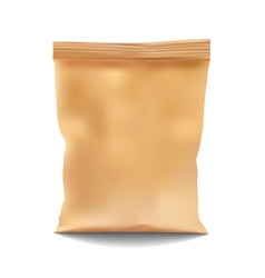 Golden Blank Foil Food Snack Sachet Bag vector