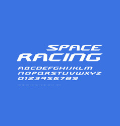 italic extended sans serif font vector image