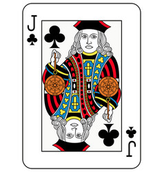 Jack of clubs french version vector