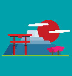 japan flat design landmark vector image