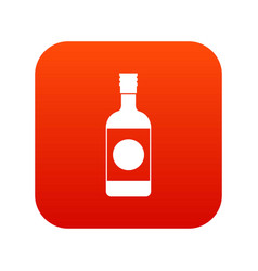 Japanese sake icon digital red vector