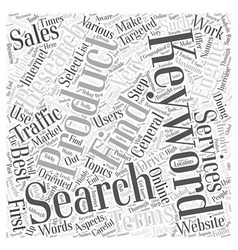 Keyword Research That Works Word Cloud Concept vector