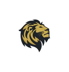 lion logo emblem design vector image