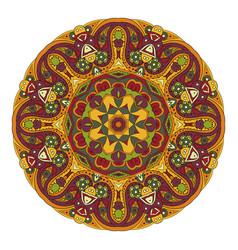 mandala oriental pattern traditional round vector image