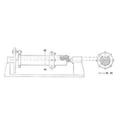 mechanical boring rod vintage vector image