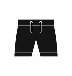 Mens shorts icon simple style vector image