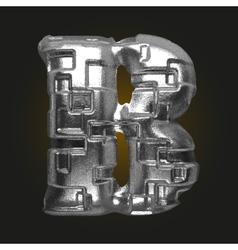 Metal figure b vector