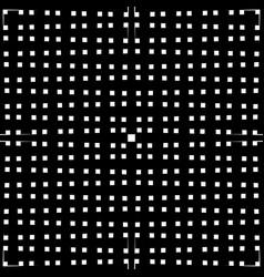 monochrome grid mesh with irregular lines vector image