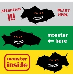 monster in the crack hole vector image
