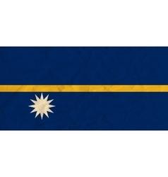 Nauru paper flag vector image
