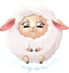 nyashnye sheep on a white background vector image