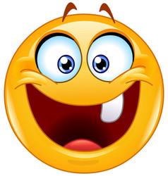 One tooth emoticon vector