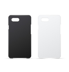 phone cases mockups realistic vector image