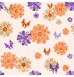 Pink grunge seamless vintage spotty pattern vector