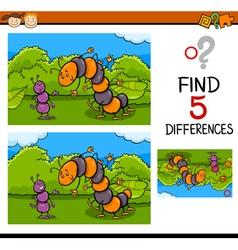 Preschool task of differences vector