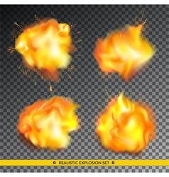 Realistic explosion set vector