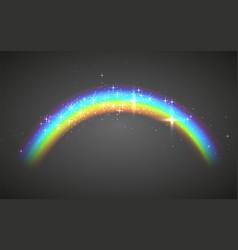 Realistic rainbow abstract colorful rainbow vector