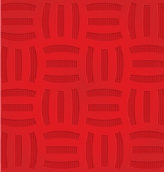 Red three striped grid on checkered background vector image
