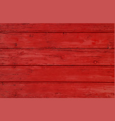 Red vintage painted wooden planks background vector