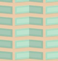 Retro fold light green rectangles vector