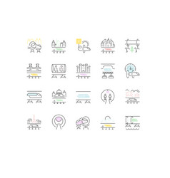 set line icons hyperloop vector image