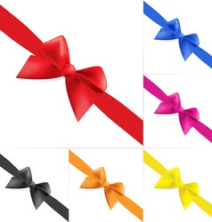 Set of celebratory bows vector