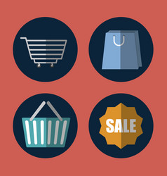 shopping related icons vector image