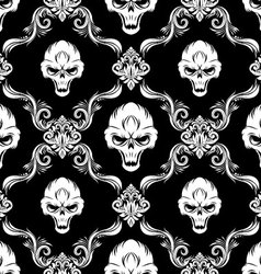 Skull Decorative Pattern vector image