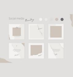 Social media branding template vector